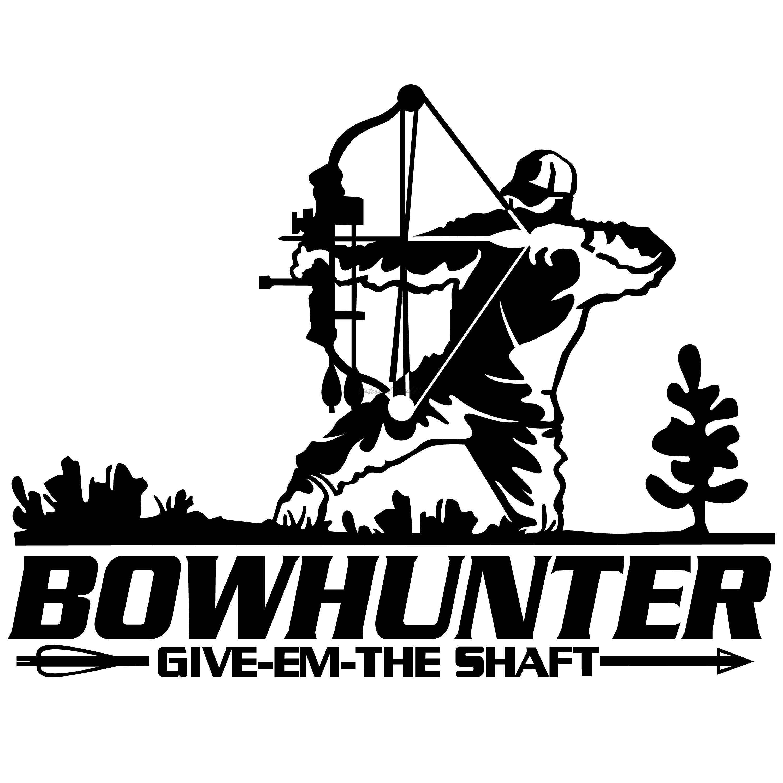 Bowhunter At Draw Decal