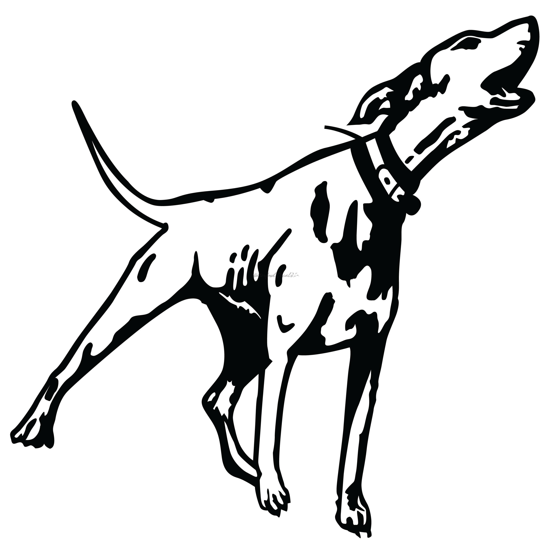 Hound Dog Barking Decal