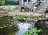 Enjoying the pond!