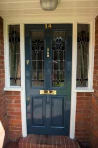 Stained glass front door - Waterhall Joinery Ltd