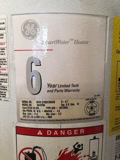 Ge Water Heater Serial Number : water, heater, serial, number, Smart, Water, Heater, Parts