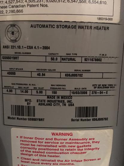 Us Craftmaster Water Heater Age : craftmaster, water, heater, Craftmaster, Water, Heater, Serial, Number, First, JUGEM