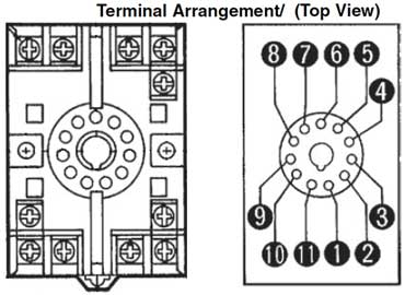 11 pin relay socket wiring diagram delco alternator external regulator how to wire timers as general rule input voltage will connect terminals 2 and 10 once power is applied the other should have no