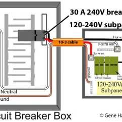 240v Sub Panel Wiring Diagram Uml Component Visio 2013 Schematic How To Change 120 Volt Subpanel 240 60 Amp