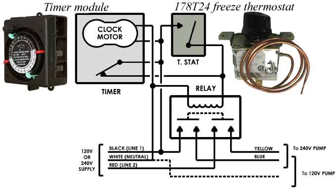 pool timer wiring diagram intermatic kvt 512 how to wire t104 and t103 t101 timers 178t24