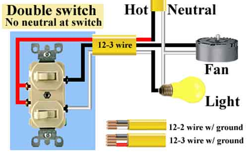 wiring double light switch diagram