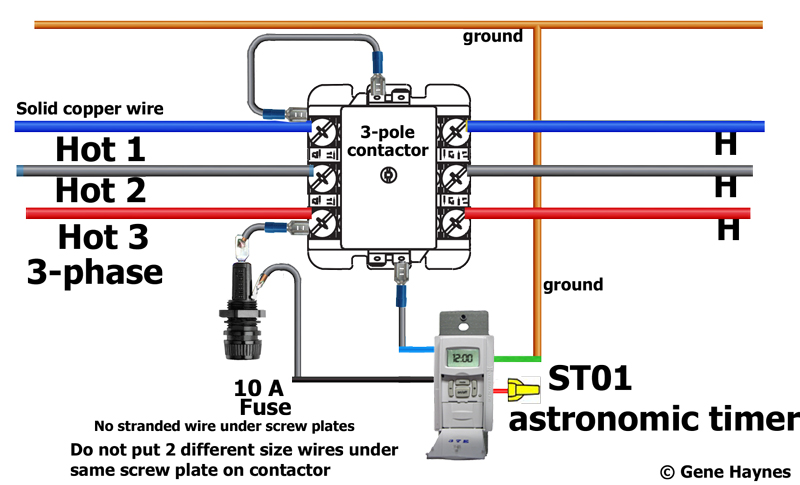Magnetic Contactor Wiring Diagram Three Phase