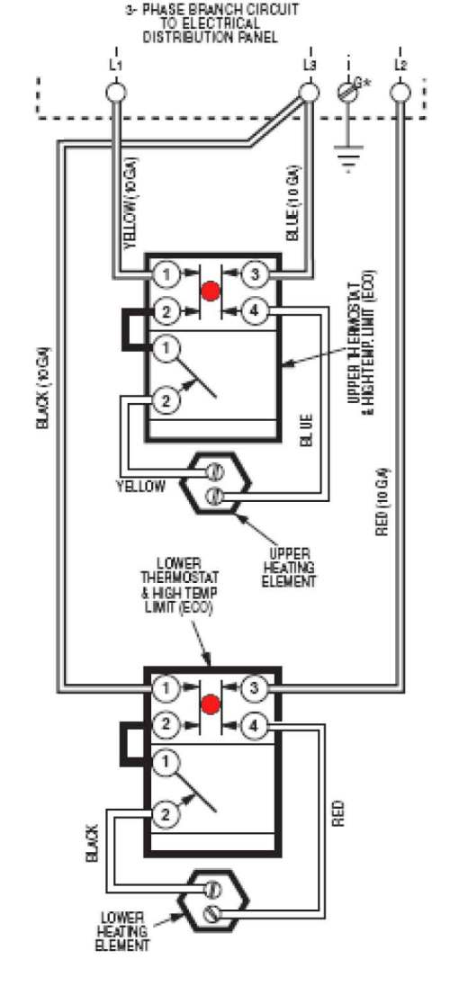 small resolution of wire water heater for 3 phase larger image another image slightly different wiring larger