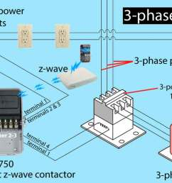 3 phase z wave contactor ca3750  [ 1270 x 800 Pixel ]