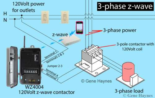 small resolution of larger image 3 phase z wave contactor