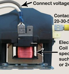 contactor is a switch it is rated for high amp loads high amp causes heat heat will damage regular electrical parts timers and wall switches can be  [ 1200 x 658 Pixel ]