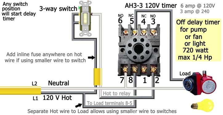 3 way switch diagram power at light electrical junction box wiring how to wire off delay timer ah3