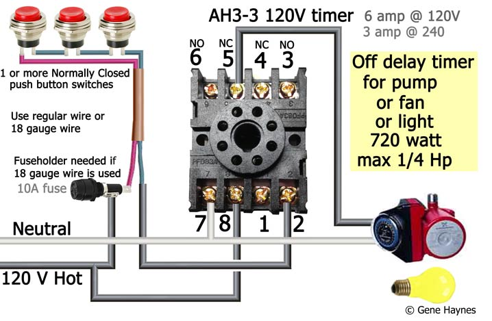 How To Wire Off Delay Timer