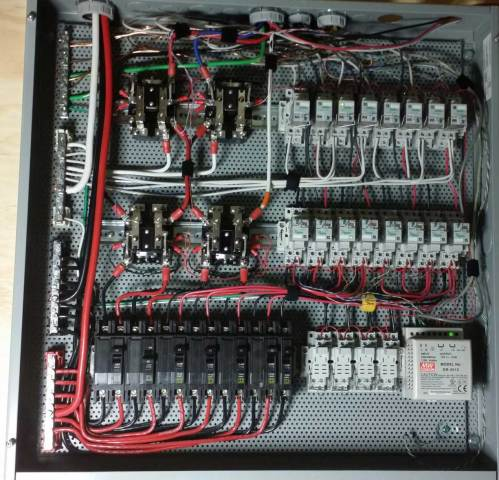small resolution of larger image example breaker subpanel image shows a subpanel with circuit breakers mounted on din rails ordinary wire gauge will work with either ac or