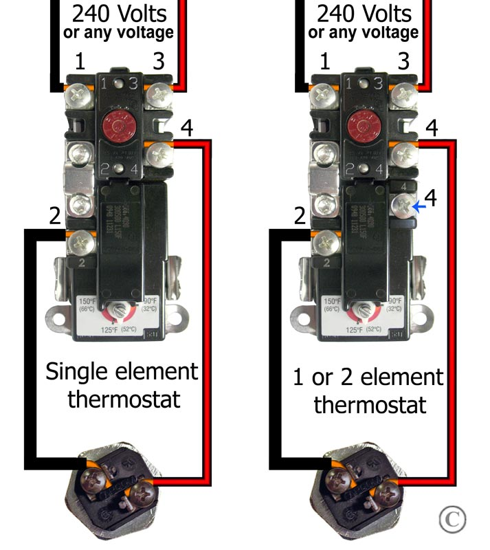 thermodisc wiring diagram car horn relay how to wire water heater thermostats see larger 240 volt single
