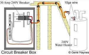 Basic 240 & 120 Volt Water Heater Circuits