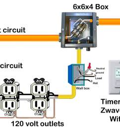 240 volt circuits can be controlled by 120v using a contactor this lets you install timer or home automation device to any 240 volt circuit  [ 2000 x 862 Pixel ]