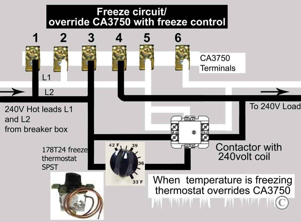 medium resolution of wire freeze control to ca3750 contactor larger image