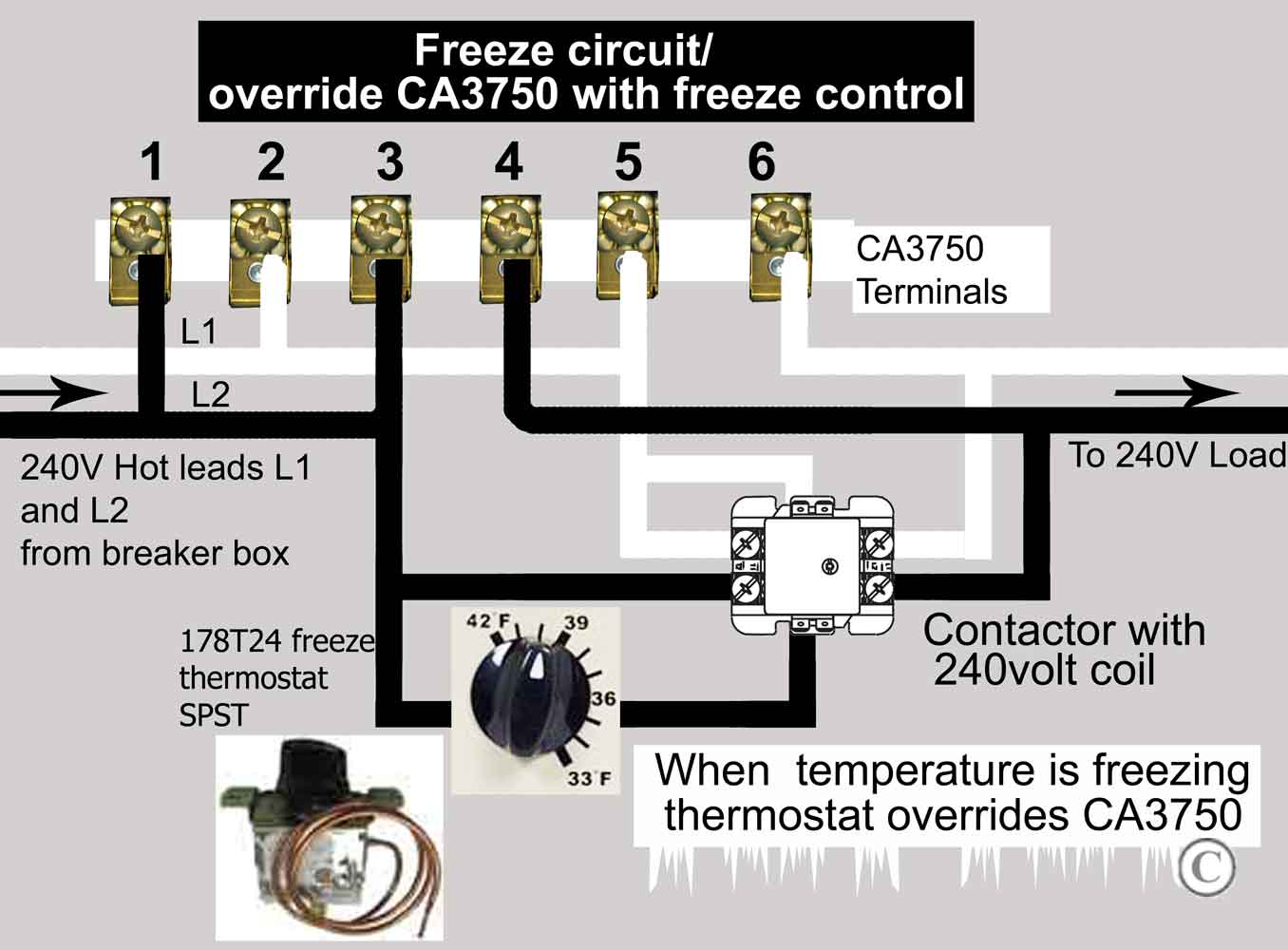 hight resolution of wire freeze control to ca3750 contactor larger image