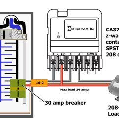 Wiring Diagram Of Contactor Electrical Panel Single Line 208 How To Wire Intermatic Ca3750208 5