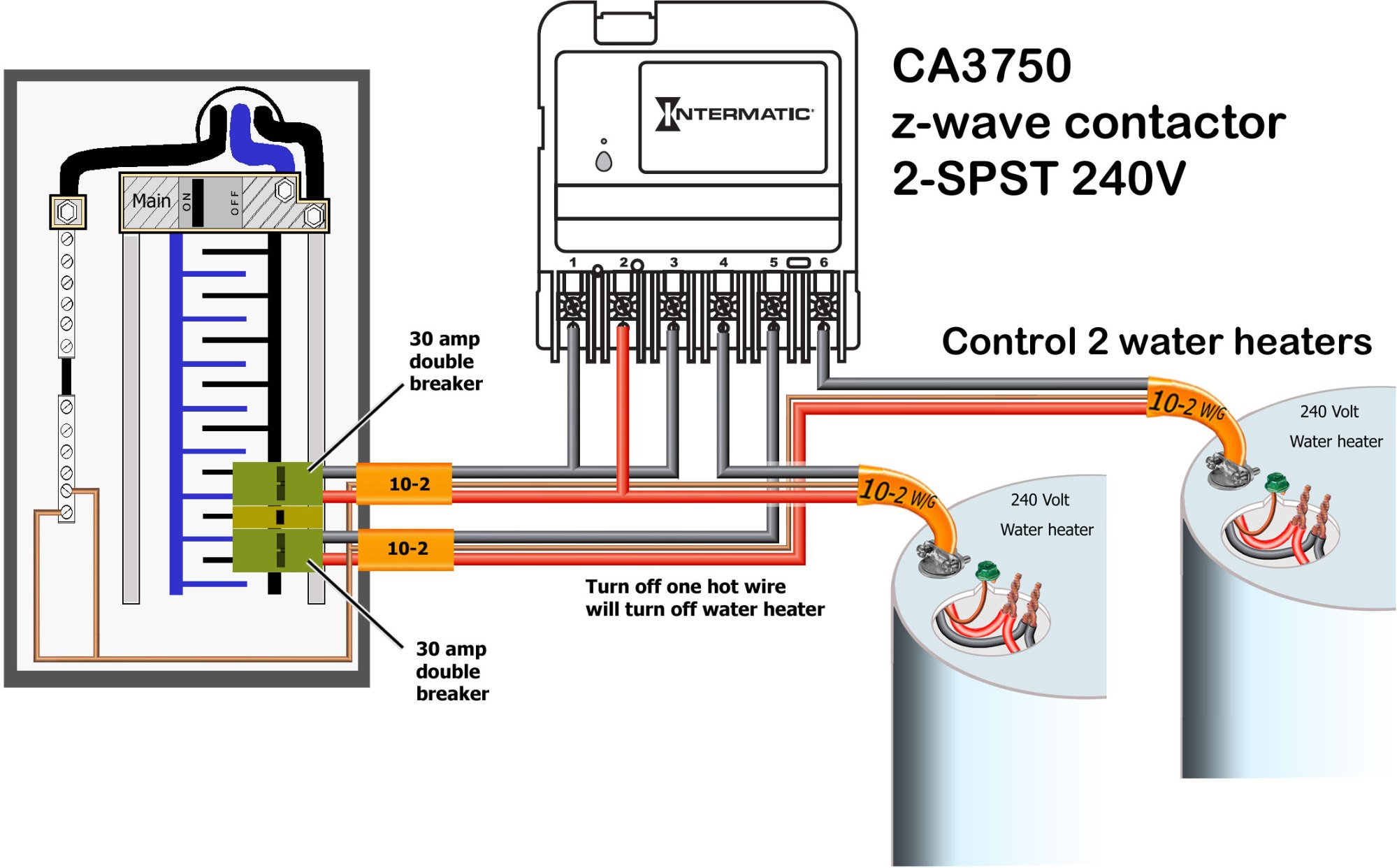 hight resolution of ca3750 control water heater larger image