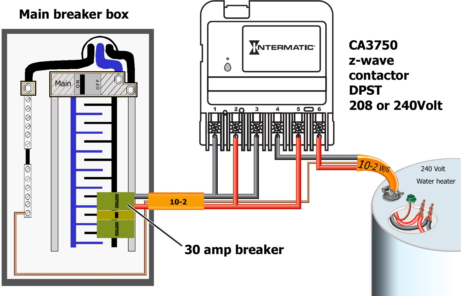 hight resolution of contactor relay box wiring wiring diagrams wiring a circuit how to wire intermatic ca3750 rib relay