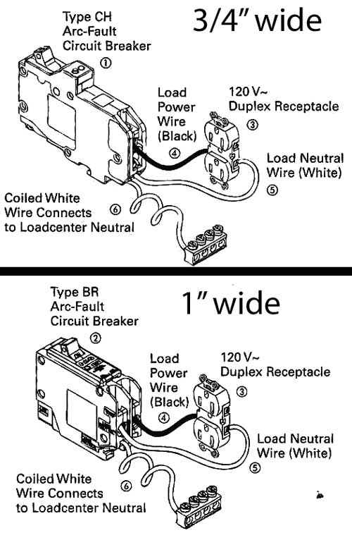 arc fault circuit breaker wiring diagram 1992 mazda b2200 how to install and troubleshoot gfci ch br