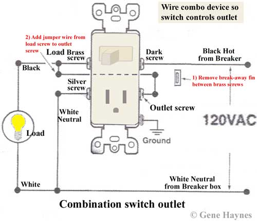 light switch outlet wiring diagram 5 3 harness how to wire switches combo device