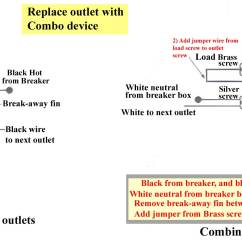Outlet Switch Combo Wiring Diagram Ge Refrigerator How To Wire Combination Replaces Full Size Image