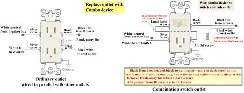 small resolution of how to wire combination switch outlet single switch with plug wiring diagram combo switch replaces outlet