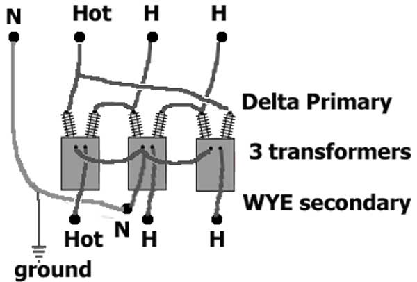 2 phase transformer wiring diagram led light with relay how to identify 1 supply wire connects two transformers each hot from the power pole ground not shown