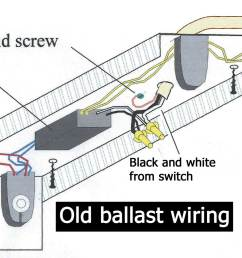 old ballast wiring larger image old 2 bulb ballast with wall switch [ 1632 x 900 Pixel ]