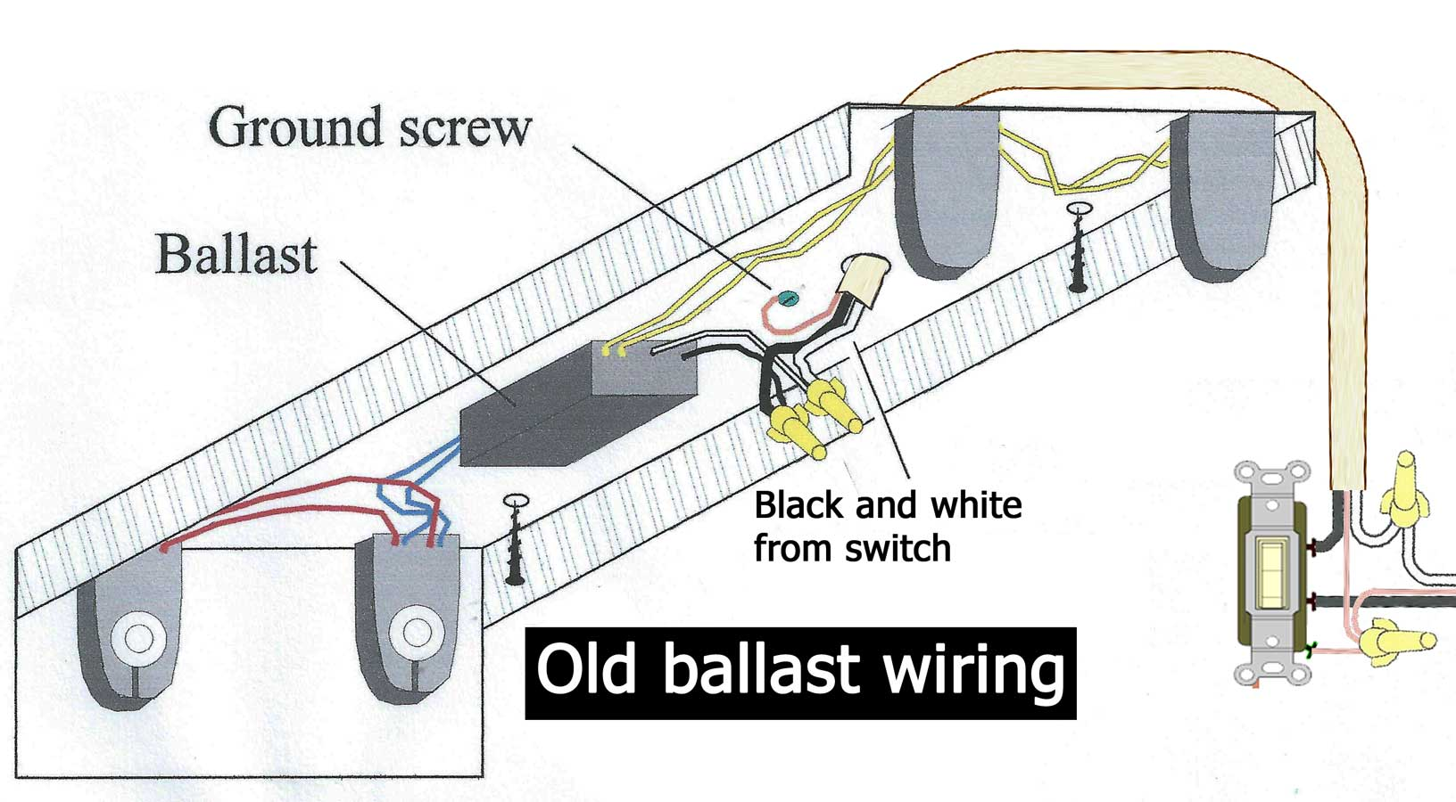 hight resolution of how to wire electronic ballast rh waterheatertimer org 2 lamp ballast wiring diagram ge t12 ballast
