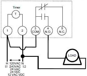 Intermatic 24 Hour 1800 Watt Timer Switch Wiring Diagram