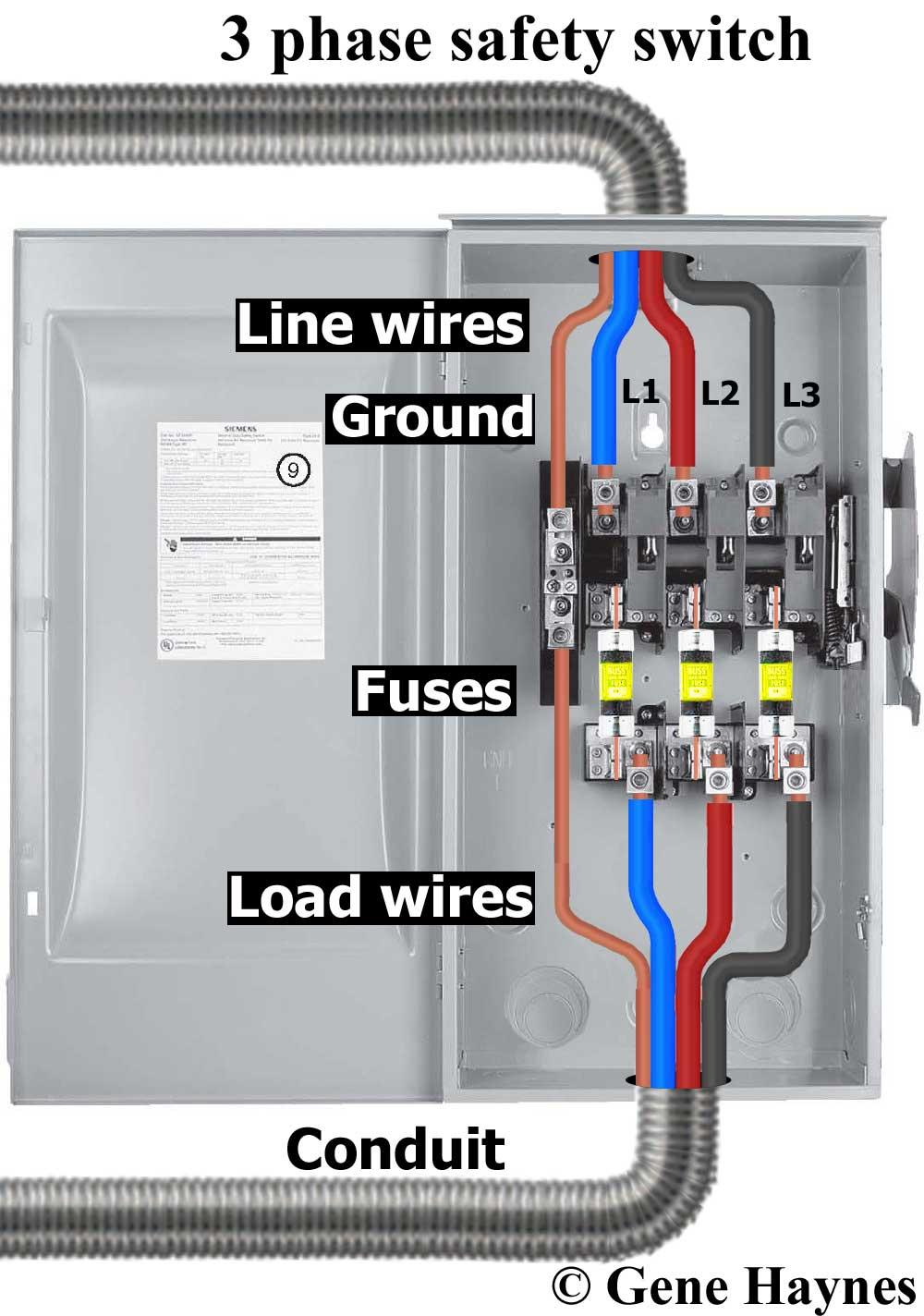 fuse switch wiring diagram air compressor 230v 1 phase ac disconnect for unfused schema diagramac non fused