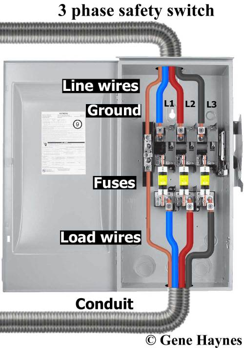small resolution of how to wire safety switchlarger image 3 pole safety switch example shows fusable this is