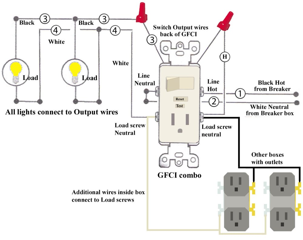medium resolution of wiring a light switch and gfci schematic free download wiring diagram leviton gfci wiring diagram multiple