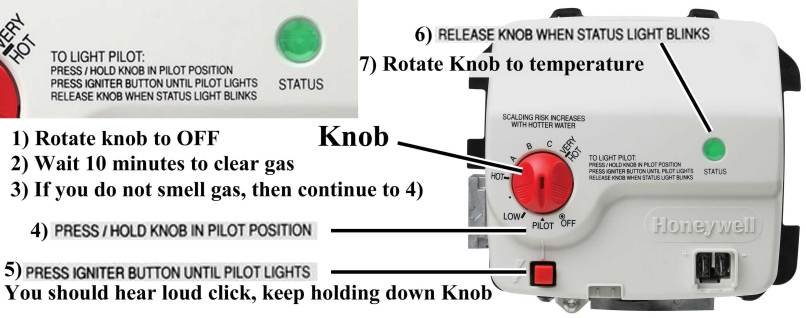 Image Result For How To Light A Gas Water Heater With Electronic Pilot