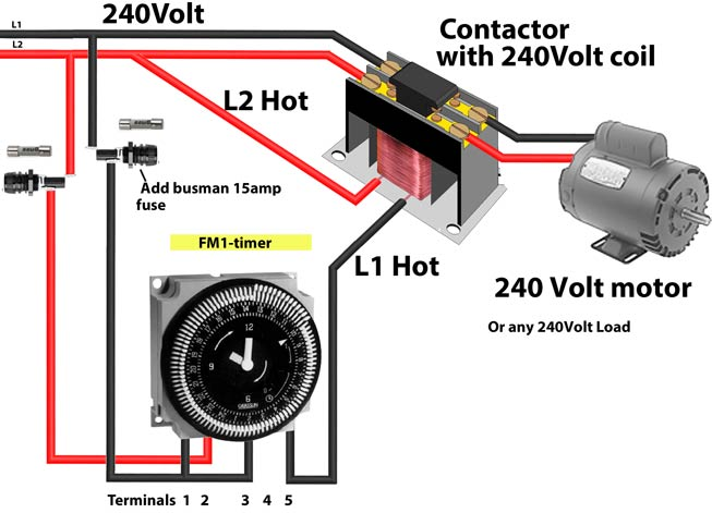 240 Volt Double Pole Switch Wiring Diagram