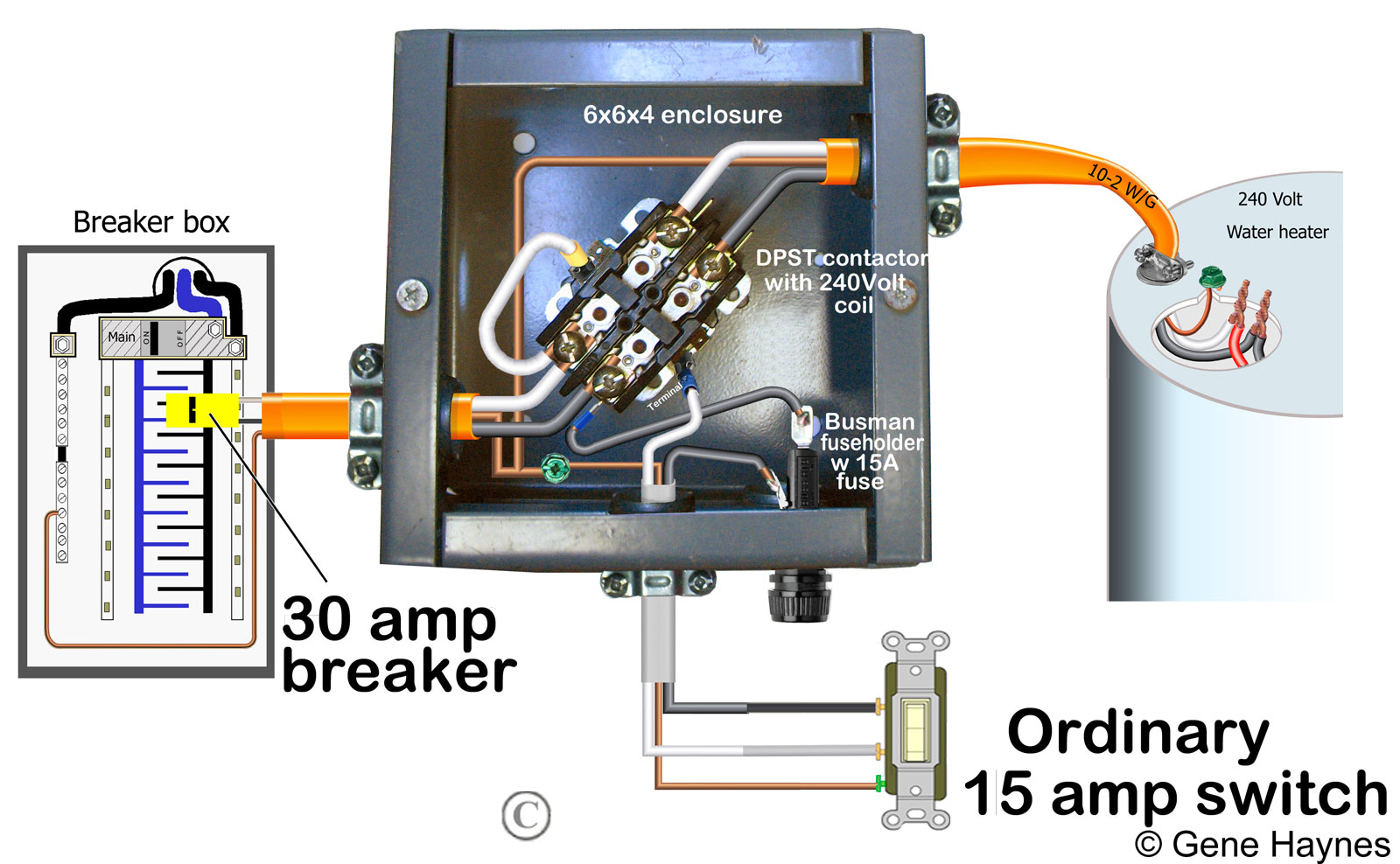 hight resolution of how to wire water heater with switches timers water heater fuse 30 amp breaker box