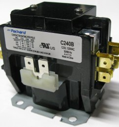 2 pole 40 amp contactor with removable dust cover on top select correct voltage needed to control coil water heaters typically use 240 volt coil  [ 1200 x 1189 Pixel ]