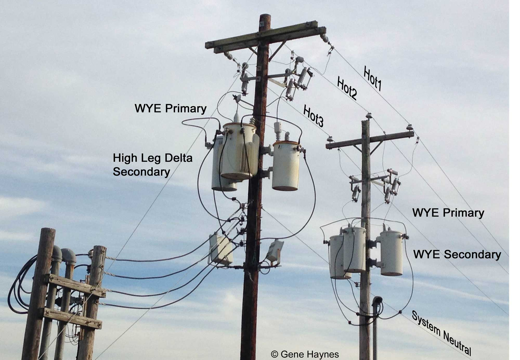 hight resolution of fig 3 wye and delta services to identify high leg delta 3 wires come off center transformer and 1 wire off 1 transformer