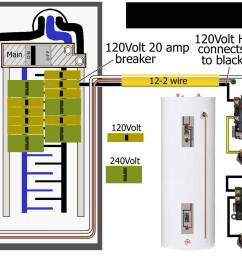 how to wire water heater for 120 volts 20 amp 240v heater wiring diagram [ 1400 x 1000 Pixel ]