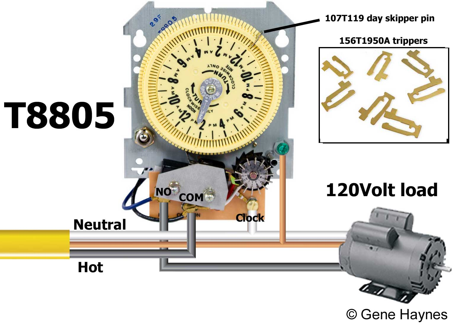 intermatic sprinkler timer wiring diagram 2016 ford f150 radio how to wire and irrigation timers manuals t8805m101c mechanism only fints into any enclosure no rain sensor terminals 14 day skipper wheel