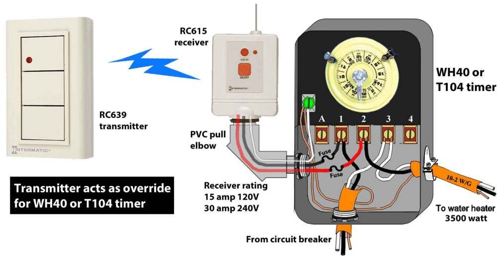 medium resolution of how to wire wh40 water heater timer rh waterheatertimer org hot water heater wiring diagram for