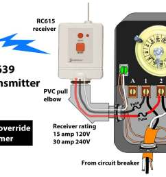 how to wire intermatic t104 and t103 and t101 timersrc939 transmitter rc613 receiver wh40 or t104 [ 1876 x 986 Pixel ]