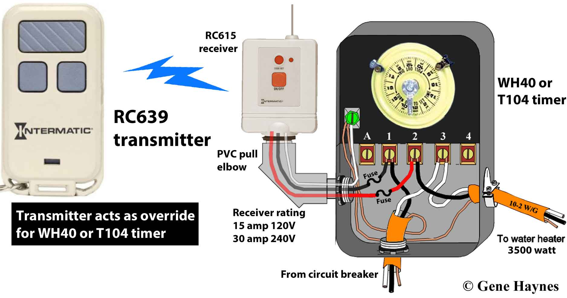 pool timer wiring diagram intermatic modine gas heater how to wire t104 and t103 t101 timers rc939 transmitter rc613 receiver wh40 or