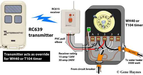 small resolution of how to wire intermatic t104 and t103 and t101 timersrc939 transmitter rc613 receiver wh40 or t104