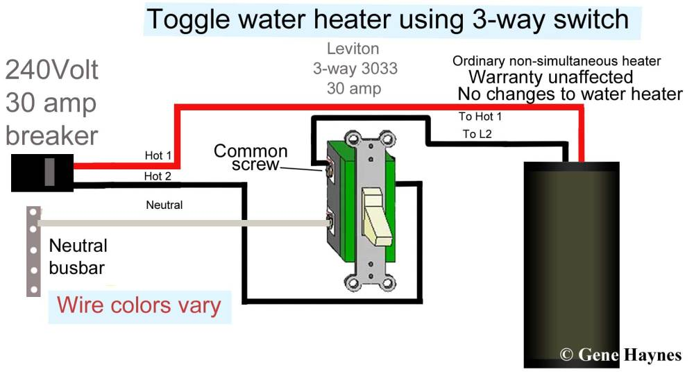 medium resolution of how to wire water heater with two switches 20 amp 240v heater wiring diagram