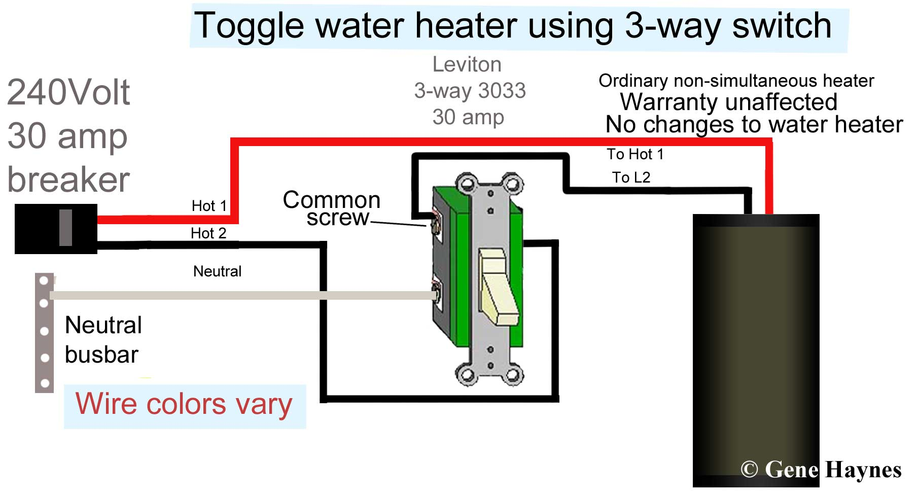 hight resolution of how to wire water heater with two switches 20 amp 240v heater wiring diagram